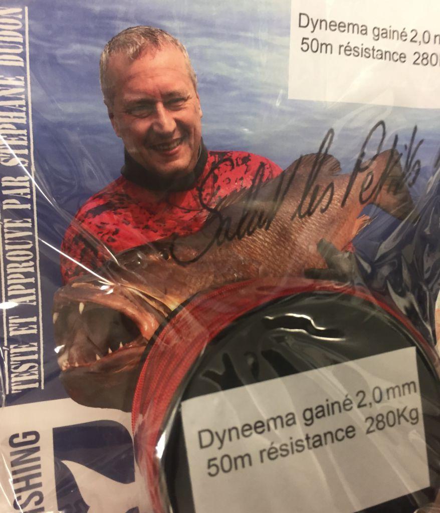 Bobine Dyneema Gainé Rouge 50 m 2 mm Denty Spearfishing